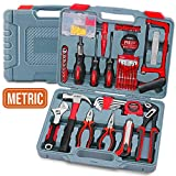 Home & Garage Tool Kit, Hi-Spec DT50103, Long Nose Tongue and Groove Pliers, Ratcheting Bit Driver, Claw Hammer, Hack Saw, Precision Screwdriver Set, Adjustable Wrench & Sockets Tool Set, 120 pieces