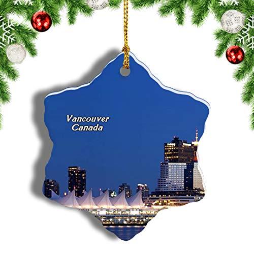 Weekino Canada Granville Island Vancouver Christmas Ornament Travel Souvenir Tree Hanging Pendant Decoration Porcelain 3' Double Sided