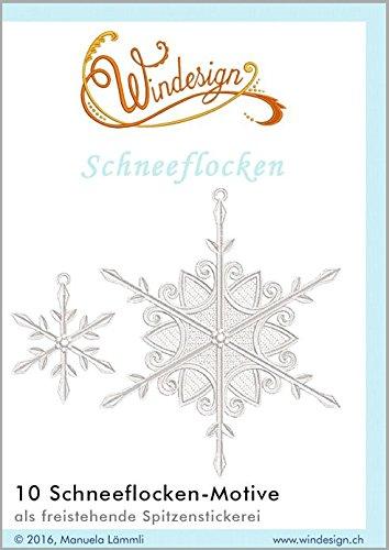 Windesign Stickmuster-Vorlagen CD, Motiv Schneemann, 8 Stickvorlagen, Stick-Software für Stickmaschinen