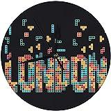 AZHOULIULIU Co.,ltd Reloj de Pared Reloj Redondo Digital London City