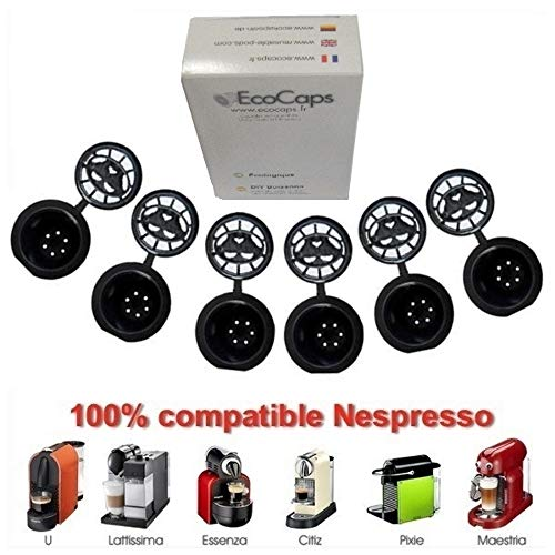 Coffee2u nachfüllbar, wiederverwendbare Behälter für Kaffee Kapseln, Nespresso-Kapseln - 10 Stück (für alle Nespresso Maschinen von nach Oktober 2010)