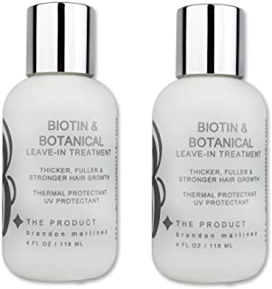 Biotin Vitamin Leave-In Conditioner (HIGH POTENCY) Hair Growth Serum & Treatment-B THE PRODUCT 4oz. (2-Pack)