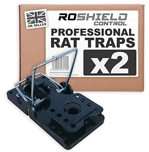 Roshield 2 x Rat Traps - Professional Heavy Duty Control Traps