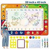 BAMAKIDS Doodle Tappeto Magico, 150 x 100 cm Lavagna Tappeto per Bambini 4 Colori Grande A...
