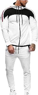 Mens Tracksuits Jogger Long Sleeve Full Zip Hoodie Sweatshirt Joggers Pant Sportsuit