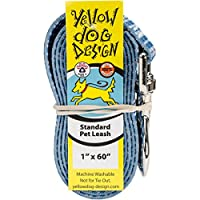 Yellow Dog Design Preppy Boy Plaid Dog Leash-Size Large-1 Inch Wide and 5 feet (60 inches) Long 141[並行輸入]