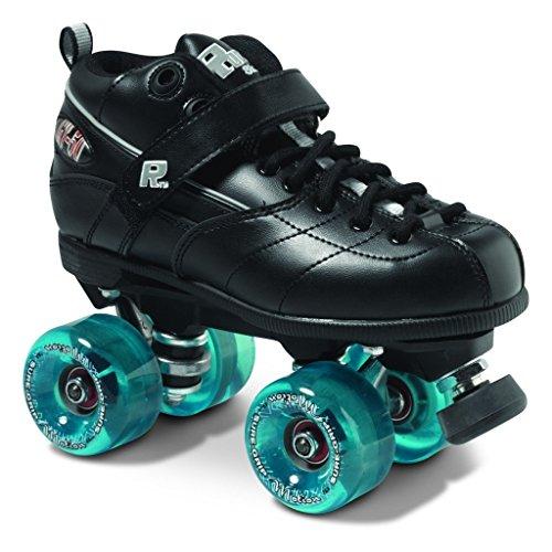 Sure-Grip Fame Motion Roller Skate Package - Black sz Mens 6 / Ladies 7 Black Roller Skate Men