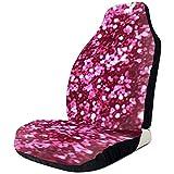 Alice Eva 2pcs Sitzbezüge Fuchsia Shiny Pailletten von Autositz Reisetasche für Auto Autositzbezüge
