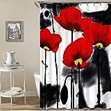 JUAN Cortina de baño a Prueba de Agua Todo Tipo de Ondas Gigantes Digitales Tinta Pintura Color Elefante Piscina Rana Impermeable, 165 * 180 cm, Tinta