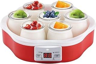 SJYDQ Accueil Yogurt Maker Faire Machine -Digital Yaourt avec 7 Jars - Machine en Acier Inoxydable, Les contenants en Verr...