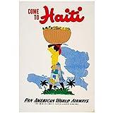 PAN AM – Vintage Haiti Advert Wall Poster Print - 43cm x