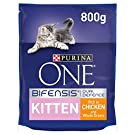 Purina ONE Kitten Dry Cat Food Chicken and Wholegrain 800 g - Case of 4 (3.2 kg)