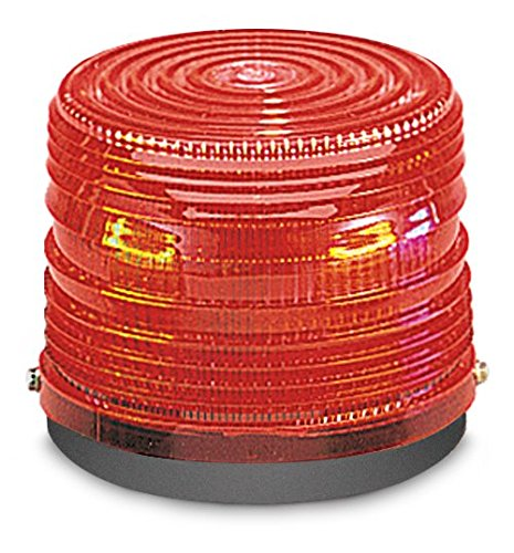 Federal Signal Warning Light, Strobe Tube, Red, 120VAC