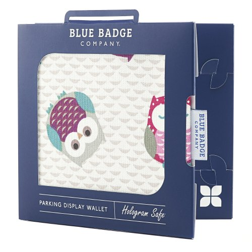 Blue Badge Company Wise Owl Design Disabled Parking Permit Wallet by Blue Badge Company