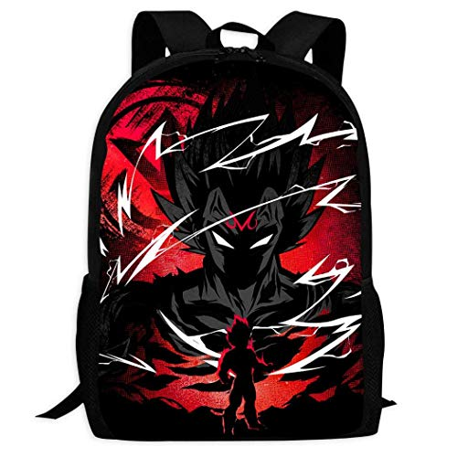 XCNGG Erwachsenen-Vollformat-Druckrucksack Lässiger Rucksack Rucksack Schultasche Sport School Anime D-ra-gon ba-ll Backpack Teen Boys and Girls Cartoon Casual School Bag