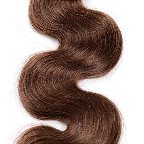 Cheveux Humains , Péruvien Armure de Cheveux Humains Couleur Extension de Cheveux Longs Cheveux Raides Dames Sexy Élégant Longue Perruque (Size : 20inch#4)
