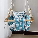 HB.YE 100% - Altalena per bambini, 100% artigianale, sedia sospesa, da usare all'aperto o al chiuso, idea regalo