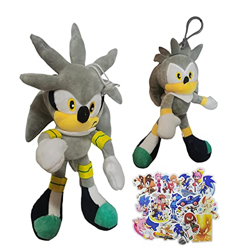 MIAOGO Llavero juguetes suaves El nuevo super sonido ratón sonic super Sonic peluche juguete para niños Tarsnak erizo muñeca anime
