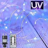 UV Schwarzlicht KupferDraht LED Licheterkette Wasserdicht