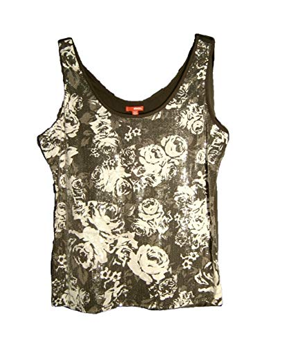 Bongo Full Front Sequins Knit Tank CAMI Camisole TOP~Junior/Plus/Misses~ 1X~XL~XXL