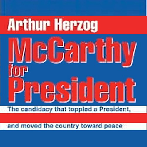 McCarthy for President audiobook cover art