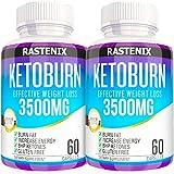 Keto Pills - 3X Potent (2 Pack | 120 Capsules) - Advanced Keto Burn Diet Pills - Boost Energy and Metabolism - Exogenous Keto BHB Supplement for Women and Men (2 Pack)
