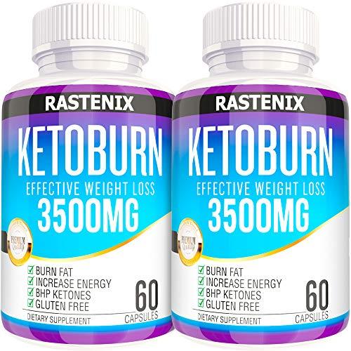 Keto Pills - 3X Potent (2 Pack   120 Capsules) - Advanced Keto Burn Diet Pills - Boost Energy and Metabolism - Exogenous Keto BHB Supplement for Women and Men (2 Pack)
