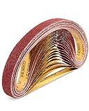S SATC Sanding Belts 1×30-Inch Sanding belt Belt Sander Belt Sander Paper, (4 Each of 60, 80, 120,150,240,400 Grits) Aluminum Oxide 24PCS