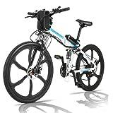 fiugsed Elektrofahrrad Mountainbike 26 Zoll E-Bike 36V, 250W Das-Kit Heckmotor, 21 Gang Gangsc (26...