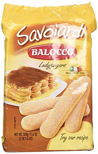 CAJA/15 Paquetes BALOCCO SAVOIARDI LADYFINGERS, GALLETAS para Tiramisu y Postres Caseros CAJA DE 15…
