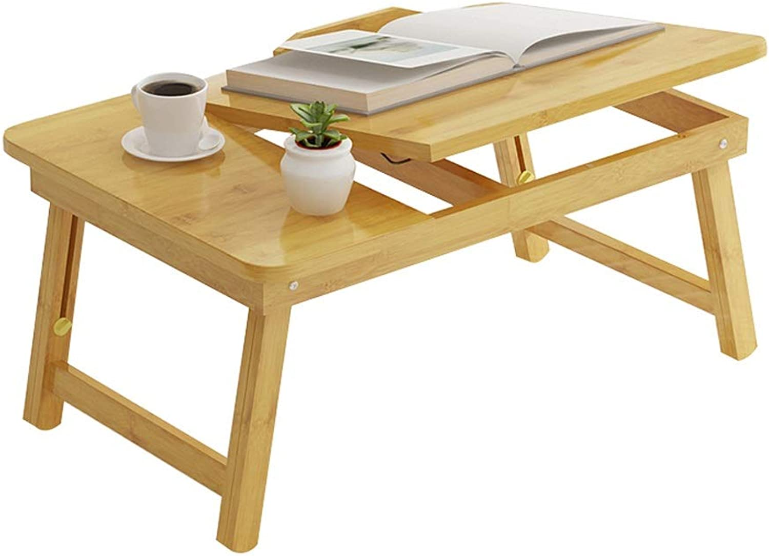 Home Mobile Foldable Lazy Simple Laptop, Suitable for Bed, Sofa, etc, can Also be Used as a Dining Table, Two Styles Available, 50x33x28cm (Size   No Drawer)