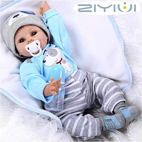 ZIYIUI 22 pollice 55cm Bambole Reborn Silicone Morbido Vinile Vita Reale Bambole del Neonato Fatto a mano Realistica Bambini Giocattolo Regali di Natale Reborn Doll