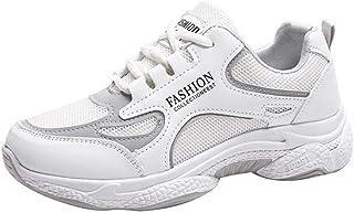 Lady Sportschoenen Lace-Up Platform Eenvoudige stijl Sneakers Platform Enkel Antislip Casual Outdoor Wandelen Gym Joggings...