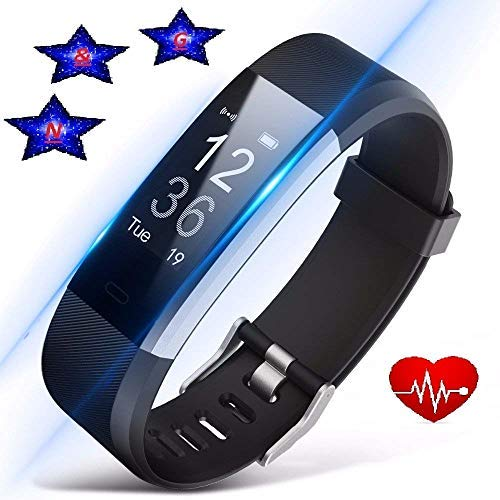 Amazon com: N&G STARS Fitness Tracker with Heart Rate Monitor