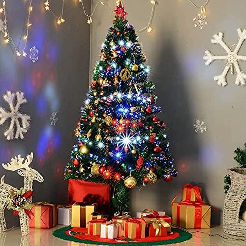 Árbol de Navidad Artificial con Luces LED, Decor de Interior y Exterior...