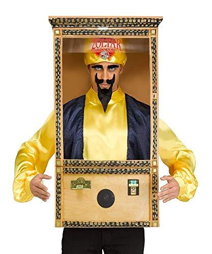 shoperama 4-teiliges Herren-Kostüm Zoltar Speaks Wahrsager Wunsch-Automat Jahrmarkt Kirmes Hellseher Spielautomat Maschine JGA