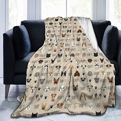 Manta cálida de tela para perros con forro polar ultrasuave para sofá o cama.