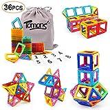 Tomons Magnetic Building Blocks Magnetic Tiles for Kids, Magnetic Blocks Stacking Blocks