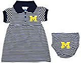 University of Michigan Wolverines Block M Striped Game Day Dress with Bloomer Navy 6-9 Months