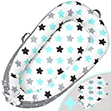 Little Growers Co-Pod Baby Lounger - Cosleeper for Baby with Two (2X) Covers! Portable Newborn Baby Bed/Baby Sleeper/Baby Nest with Pillow Softness. Parent Co Sleeper for Soothing Baby Sleep