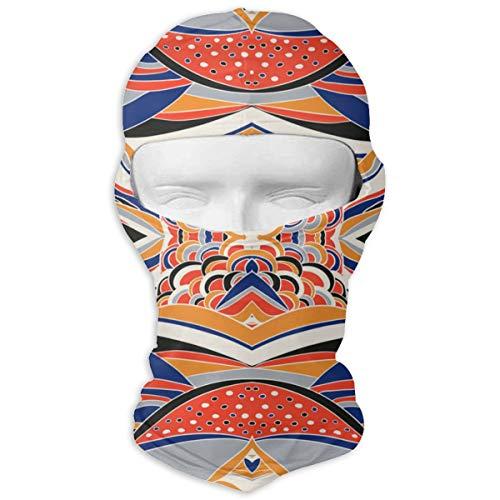 Nobrand Vollgesichtsmaske, traditionelles Ornament, Paisleymuster, Bandana, Kapuze, Sonnenschutzmaske, zweilagig, kalt für Männer und Frauen