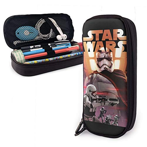 St_ar Wars Black Series Captain Phasma Pencil Case for Students Boys Girls Kids Teens First Order Force Awakens Last Jedi Pencil Pouch with Zipper Big Capacity Storage Bags School Home Office Supplies