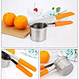 Manual 304 de Acero Inoxidable Cocina Cocina Gadget limón Exprimidor de Jugo prensado Jugo de limón Zumo de Naranja sandía y Otras Frutas Blandas puré de Patatas (Color : Orange)