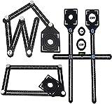 Angleizer Template Tool, righello di misurazione multi-angolo, righello di legno, multi-angolo, righello multifunzione per misurazione angolare, con righello di posizionamento Tile (locatore)
