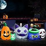 Meland Halloween Inflatables with Pumpkin Skull 9FT - Blow Up Halloween Decorations for Indoor Outdoor Yard Garden
