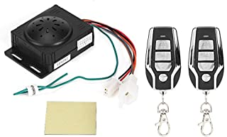 Suuonee Electric Car Alarm, Motorcycle Electric Car Keyless Entry System Lock Alarm with Remote Controller
