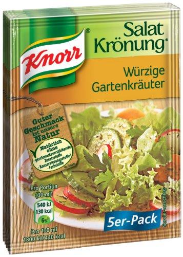 Knorr Salatkrönung Würzige Gartenkräuter Salatdressing (5 x 5er-Pack)