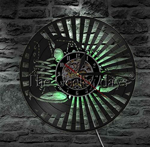 CQAZX 1 Pieza Diseño de Calzado Reloj de Disco de Vinilo Decoración para el hogar Art Club Dormitorio Juego Tienda Zapatillas de Deporte Reloj de Pared Decorativo