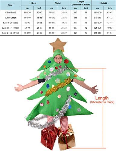 ZBBYMX - Disfraz de Papá Noel con árbol de Navidad, Talla de Adulto, Medium