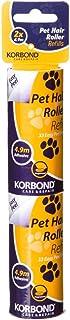 Korbond Pack de 2 recambios para rodillo quitapelos con fragancia, elimina pelos de mascota, pelusas y polvo, para ropa, m...